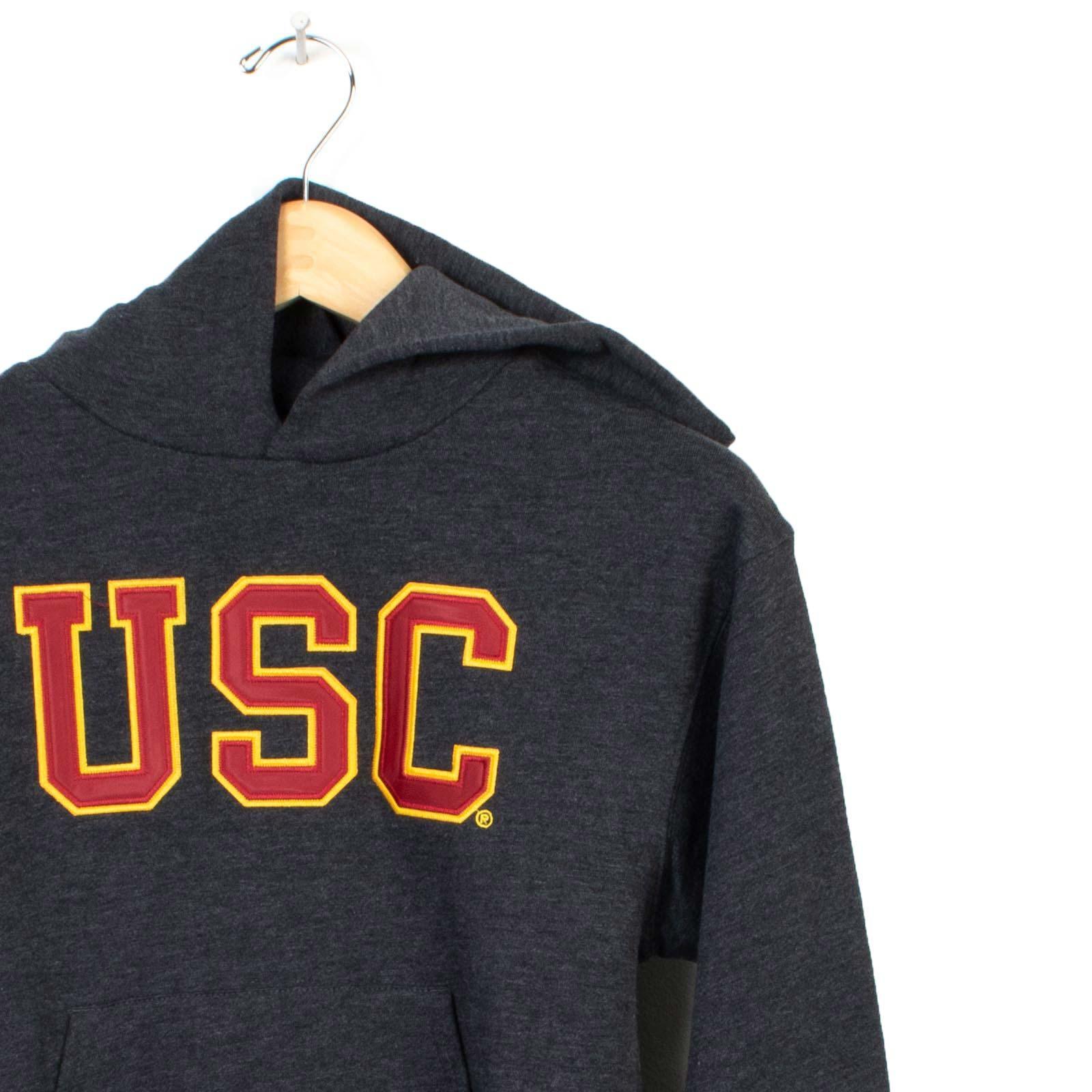 usc trojan basics youth heritage tackle twill hoodie  usc