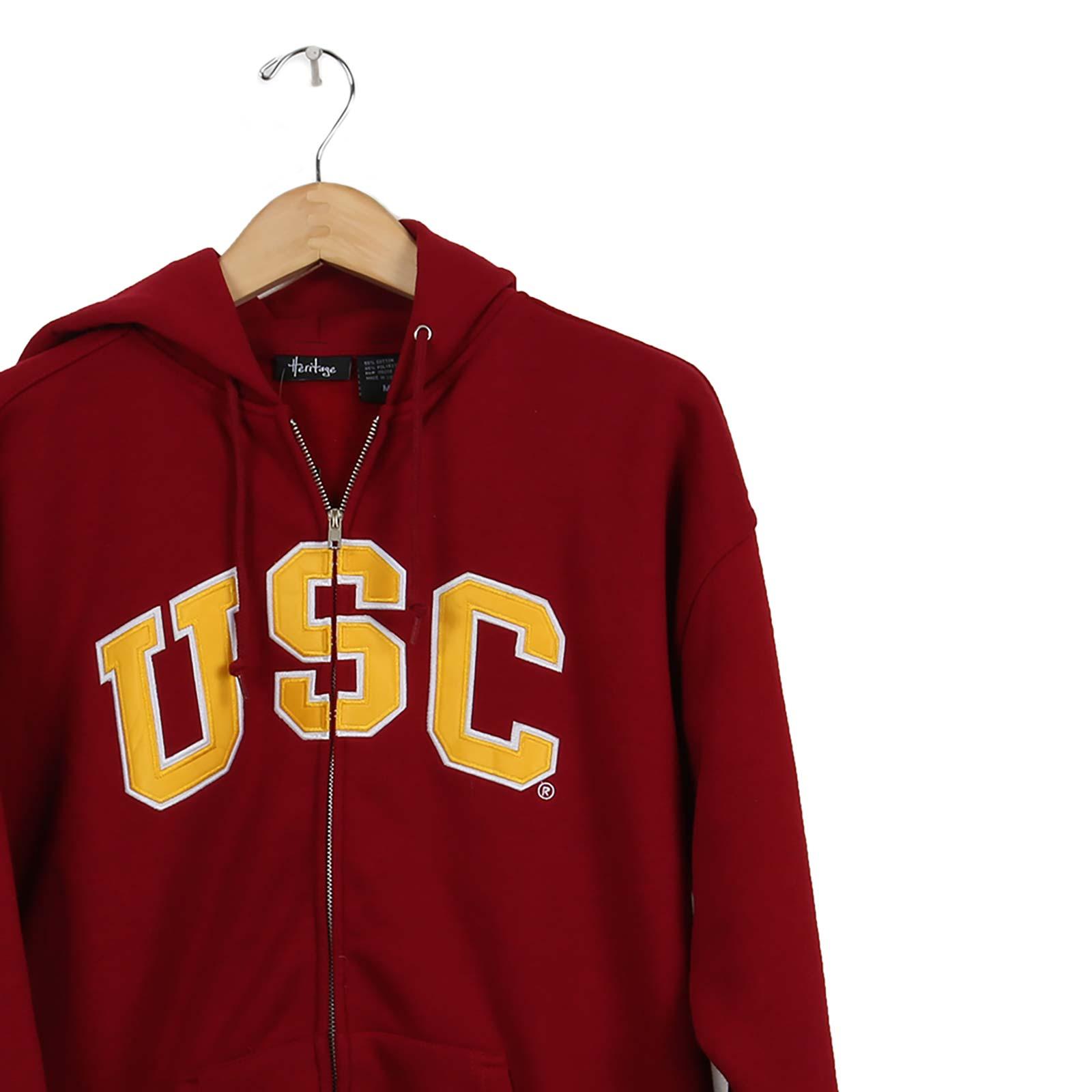 usc trojan basics heritage fullzip fleece hoodie  usc
