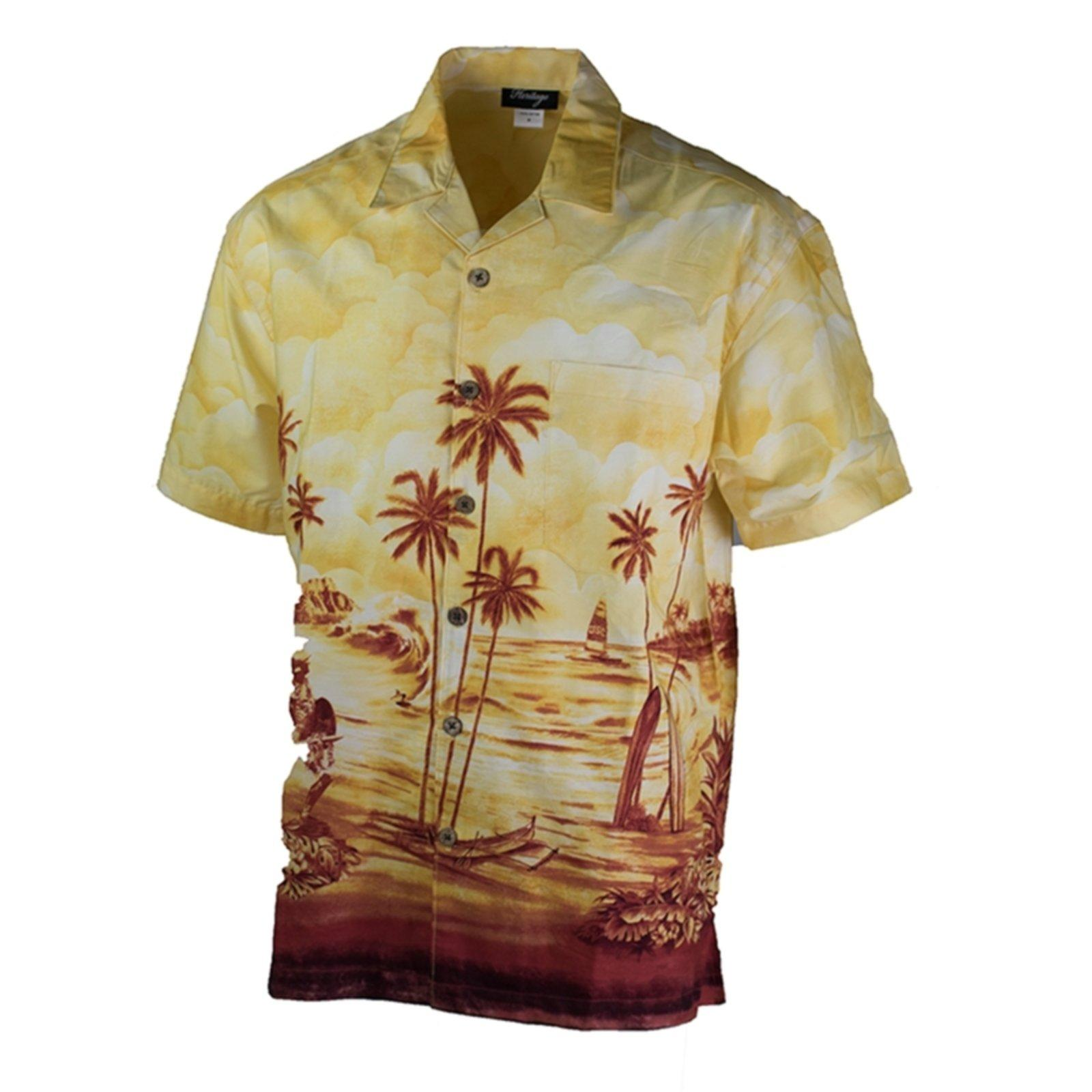 e450340460 USC Scenic Palm Tree Button Down Shirt