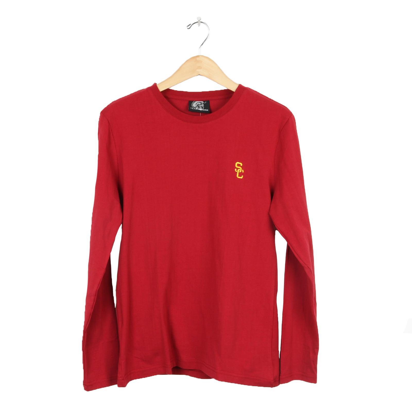 222fbc1cdaa USC Trojans Basics SC Interlock Embroidered Long Sleeve T-Shirt