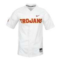 best website 2e515 09c24 USC Trojans Full Button Baseball Jersey