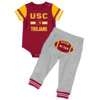 a55bda760 USC Trojan Infant Boys Football Onesie/Pant Set