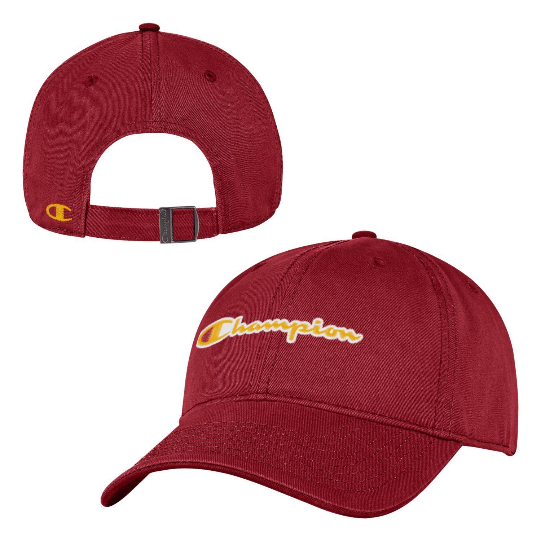 super popular 6236b eaf33 USC Champion Full Logo Garment Wash Twill Hat
