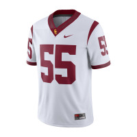 reputable site 05c65 6abeb USC Trojans Nike White Road Game Jersey #55