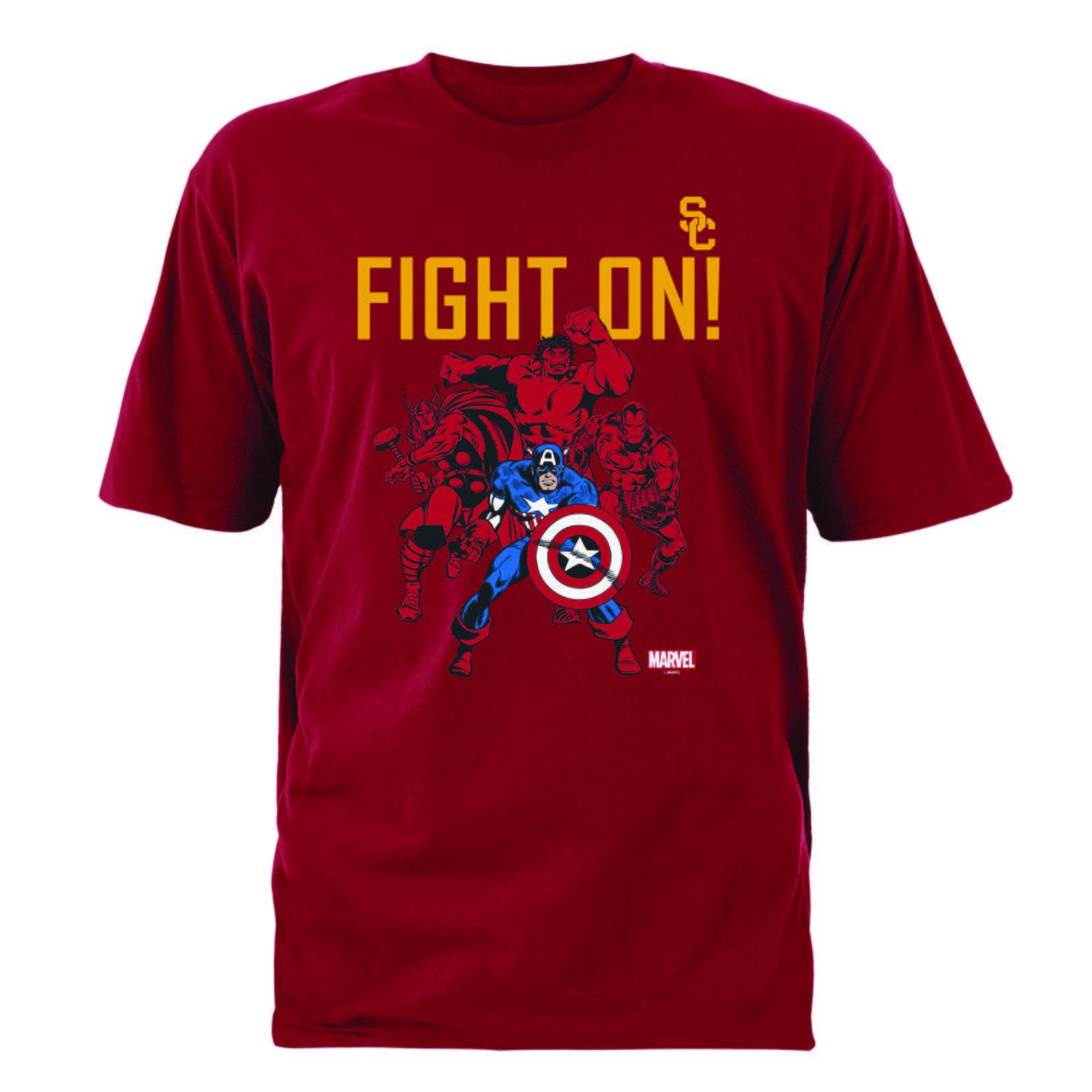 bec30bf7248 USC Trojans X Marvel Fight On Avengers T-shirt