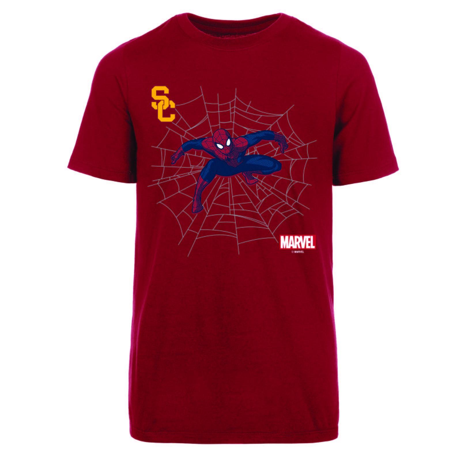 911bc84de51 USC Trojans X Marvel Youth SC Interlock Spider Man T-shirt