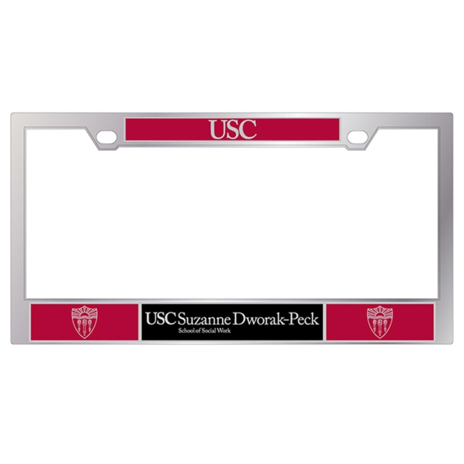 USC SOCIAL WORK LICENSE PLATE FRAME