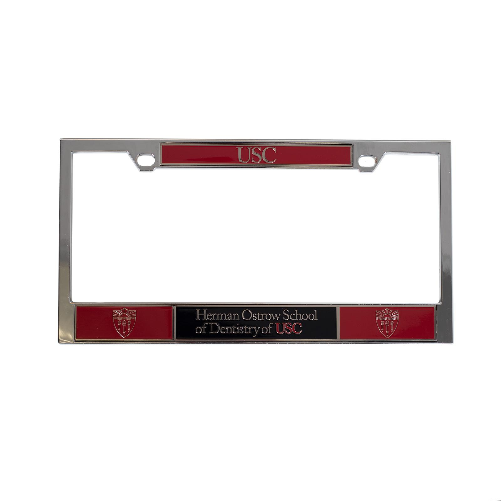Usc Herman Ostrow Dentistry License Plate Frame