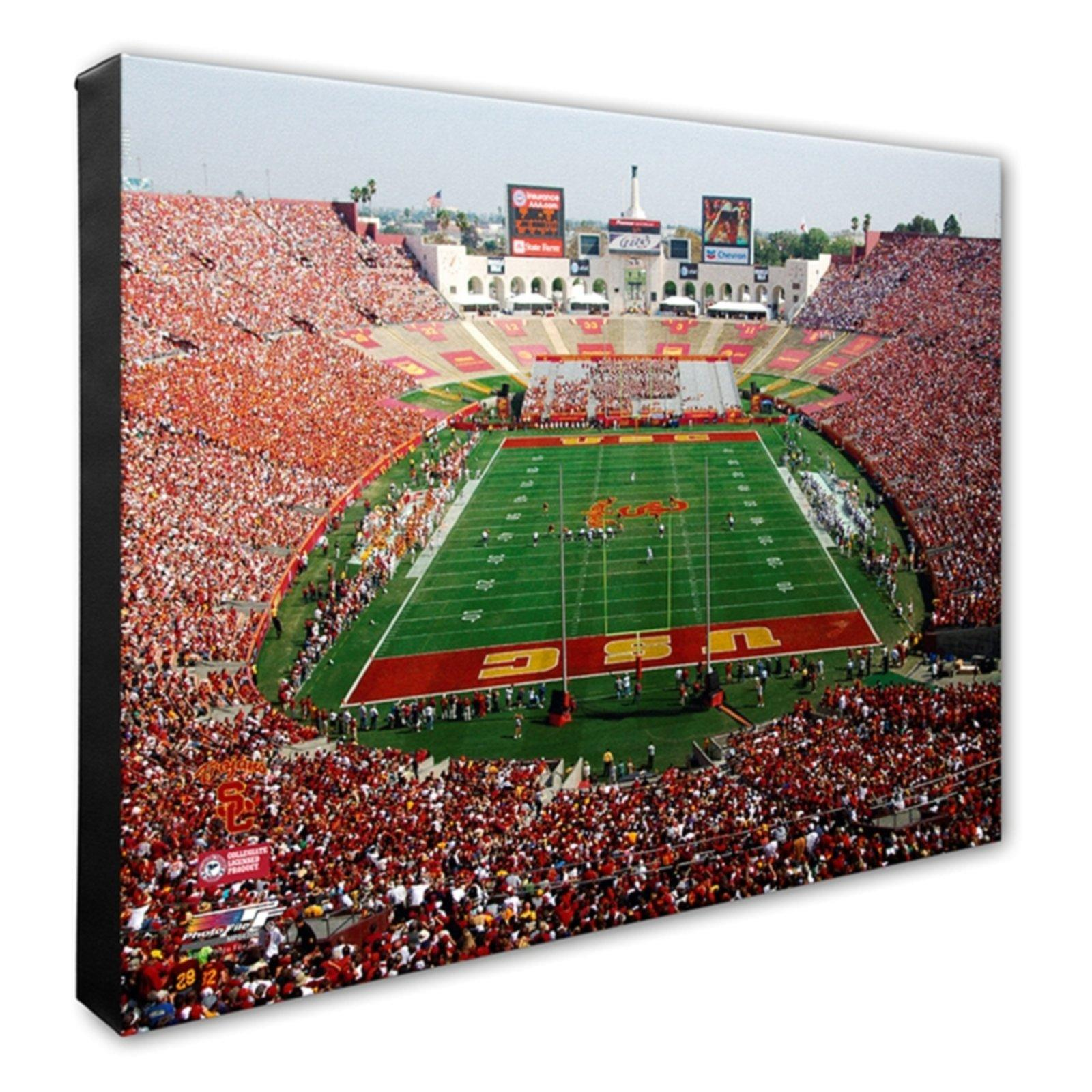 USC Trojans Coliseum Stretched Canvas