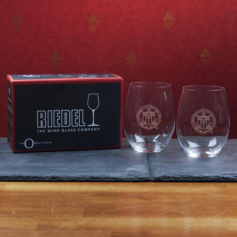 USC 2-Pack Riedel Stemless Red Wine Glass