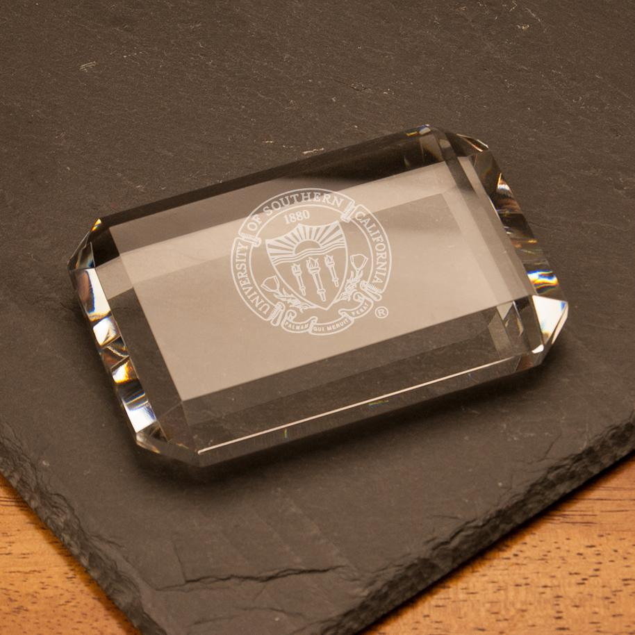 USC Rectangle Seal Paperweight