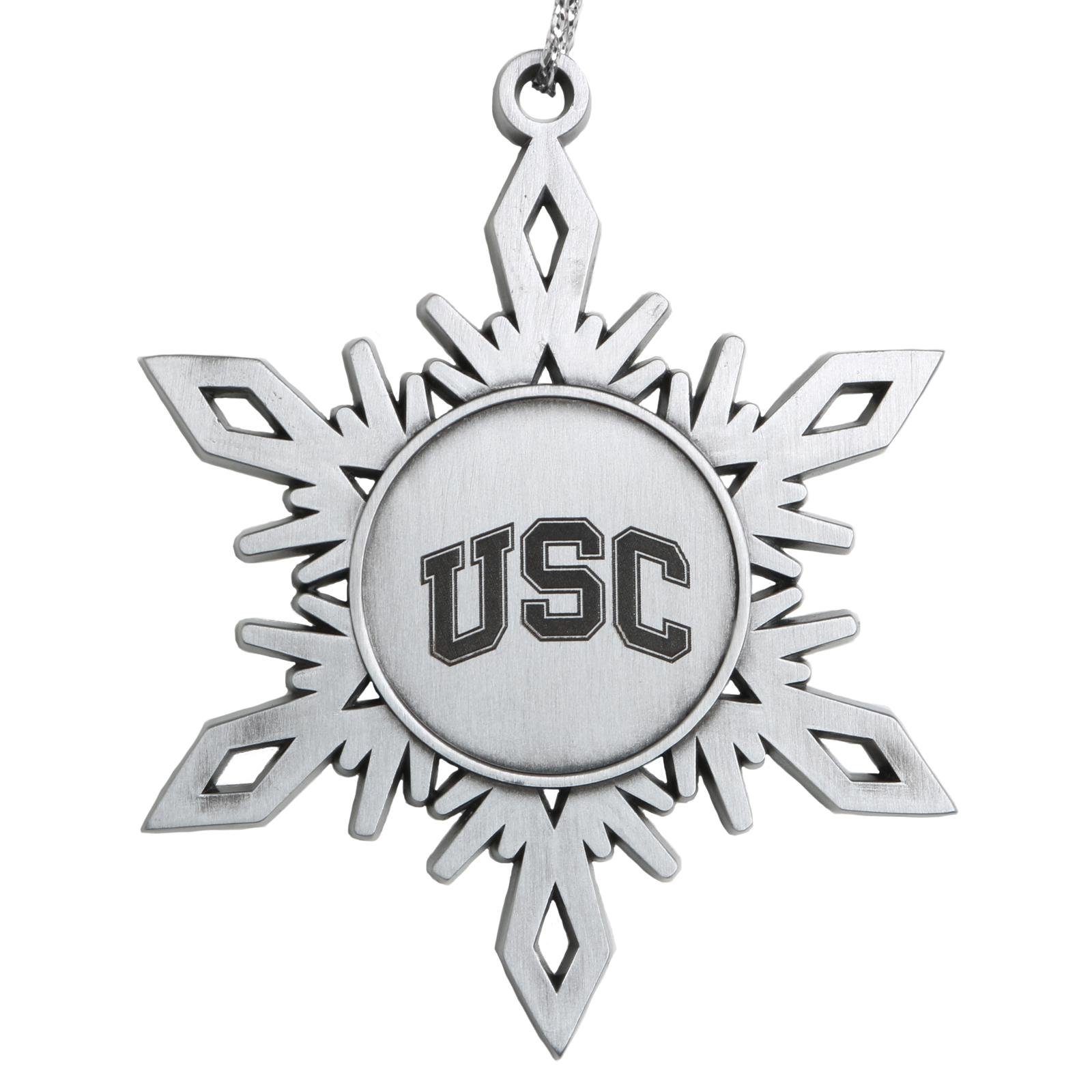 USC Arch Pewter Snowflake Ornament