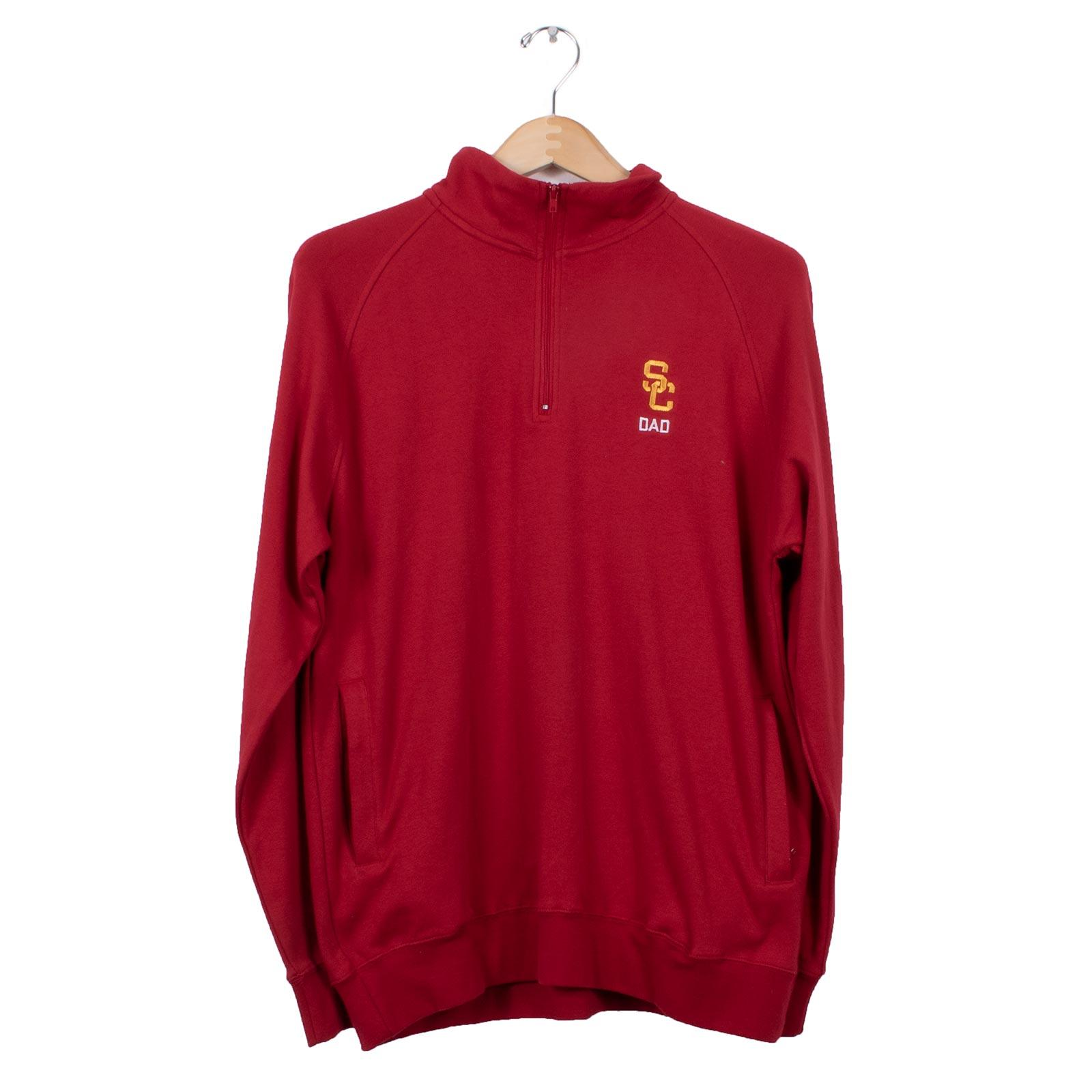 USC Trojans SC Interlock Dad 1/4 Zip Sweatshirt