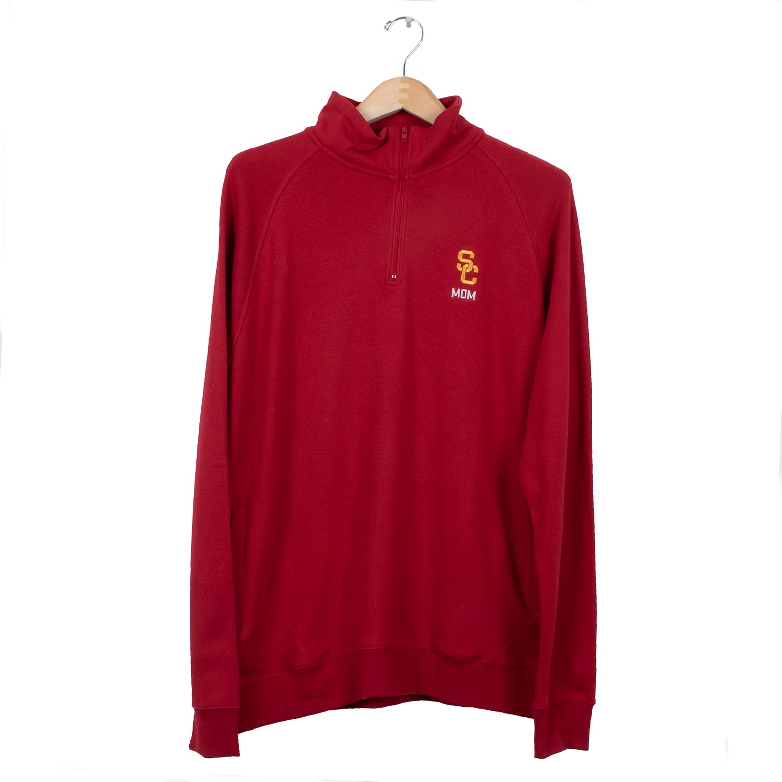 USC Trojans SC Interlock Mom 1/4 Zip Sweatshirt