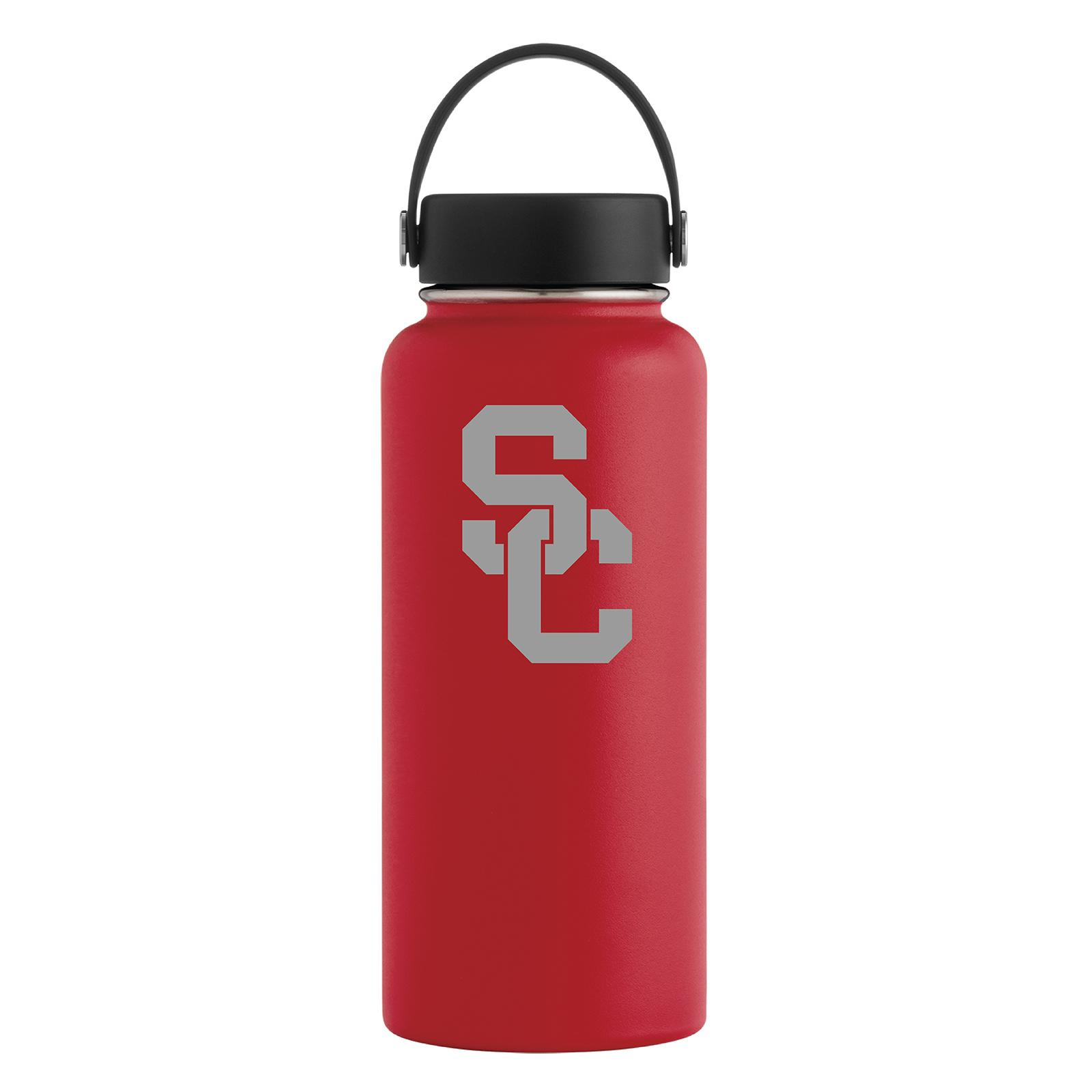 USC Trojans Cardinal SC Interlock 32oz Wide Mouth Hydro Flask