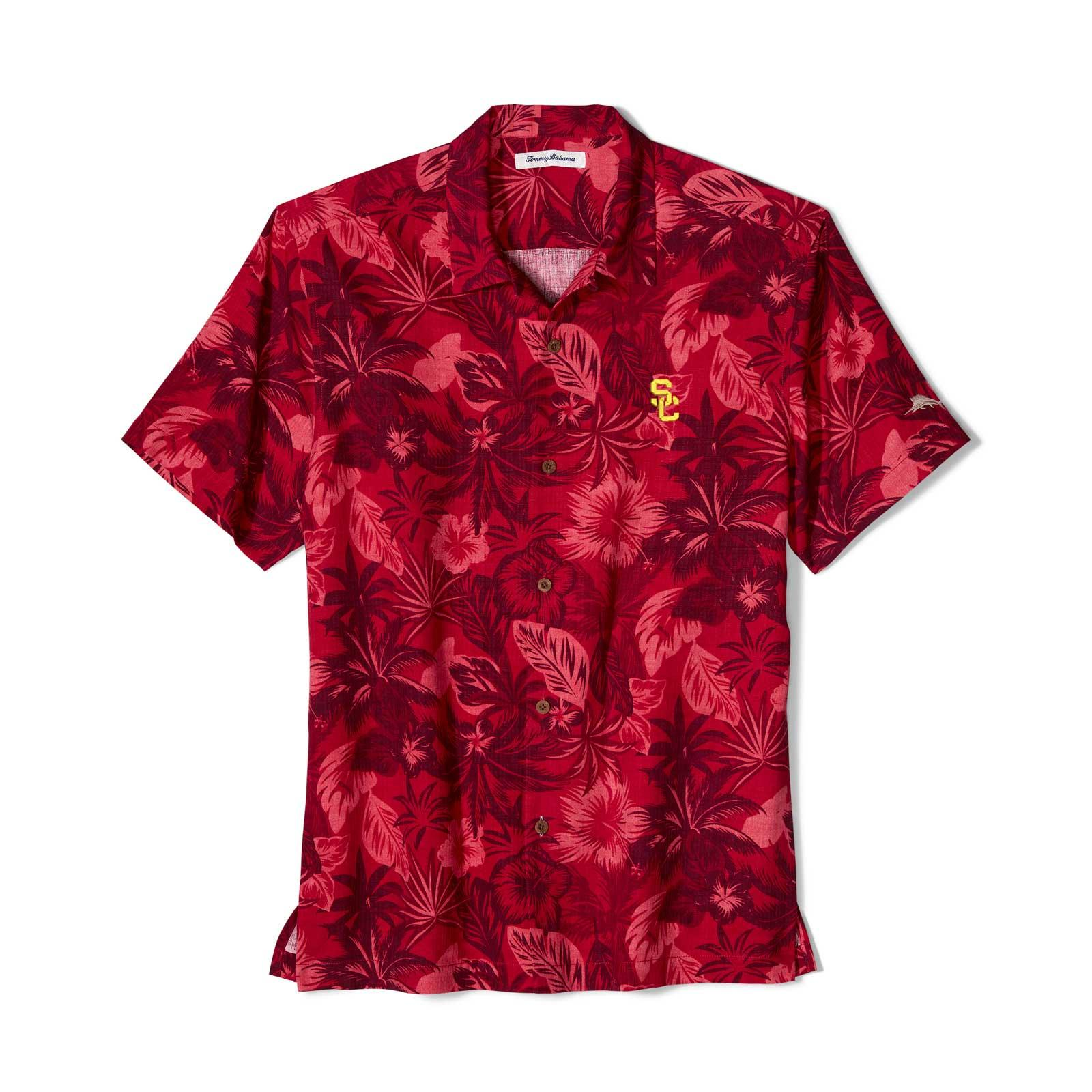 USC Trojans SC Interlock Fuego Floral Camp Shirt