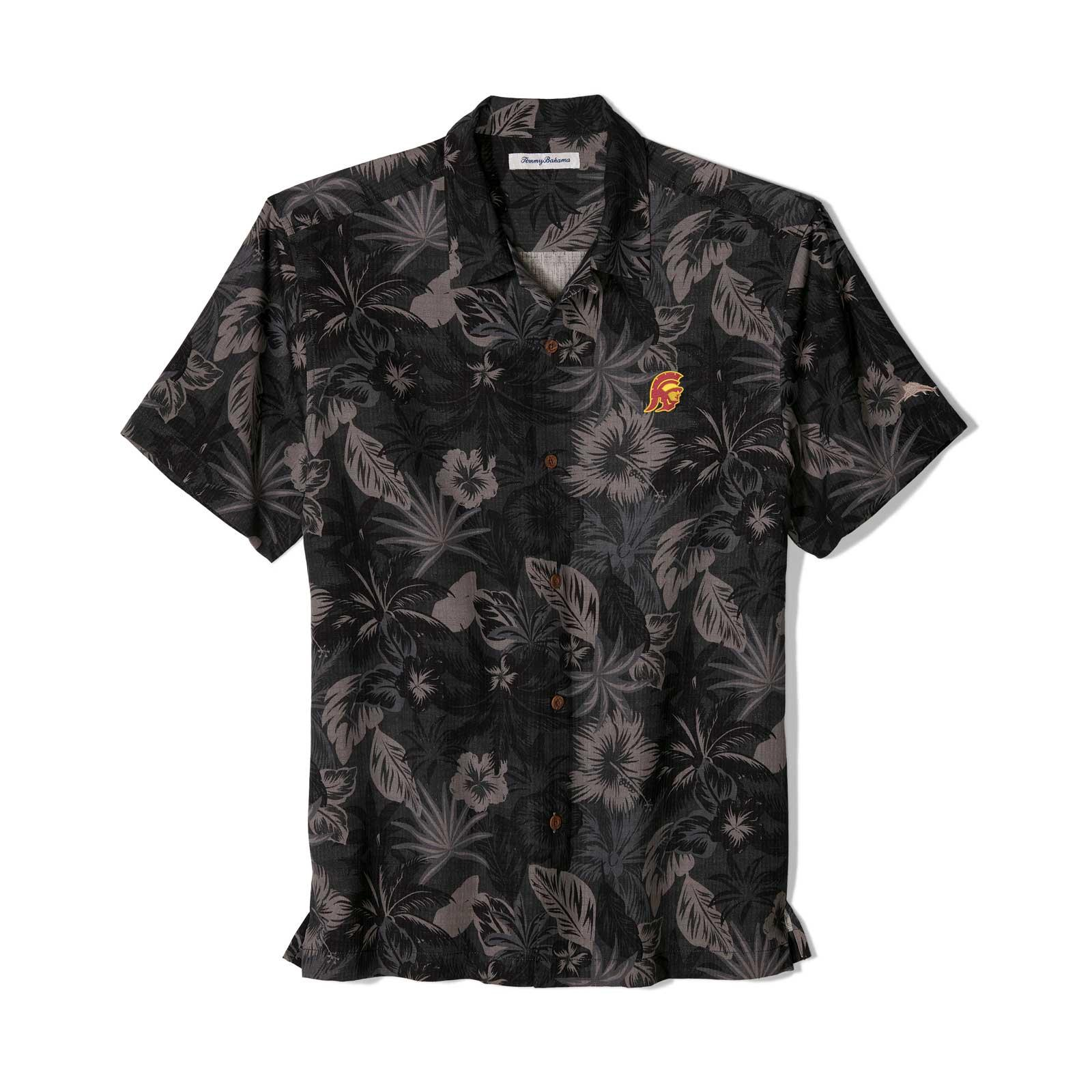 USC Trojans Tommy Head Fuego Floral Camp Shirt
