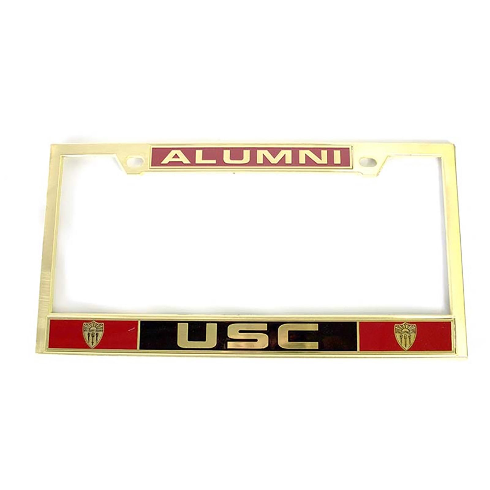 USC Alumni Solid Brass License Plate Frame