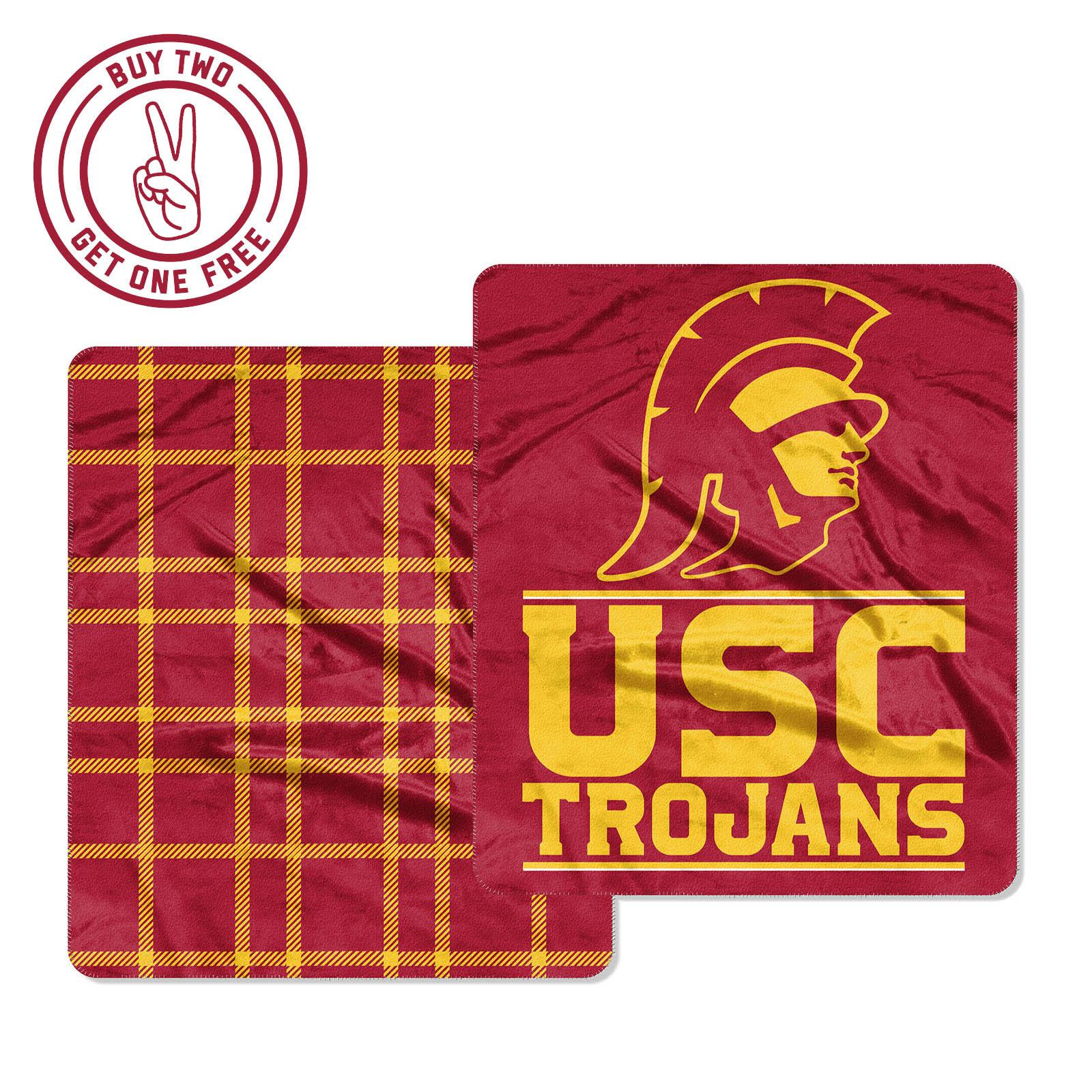 USC Trojans Cloud Throw Blanket
