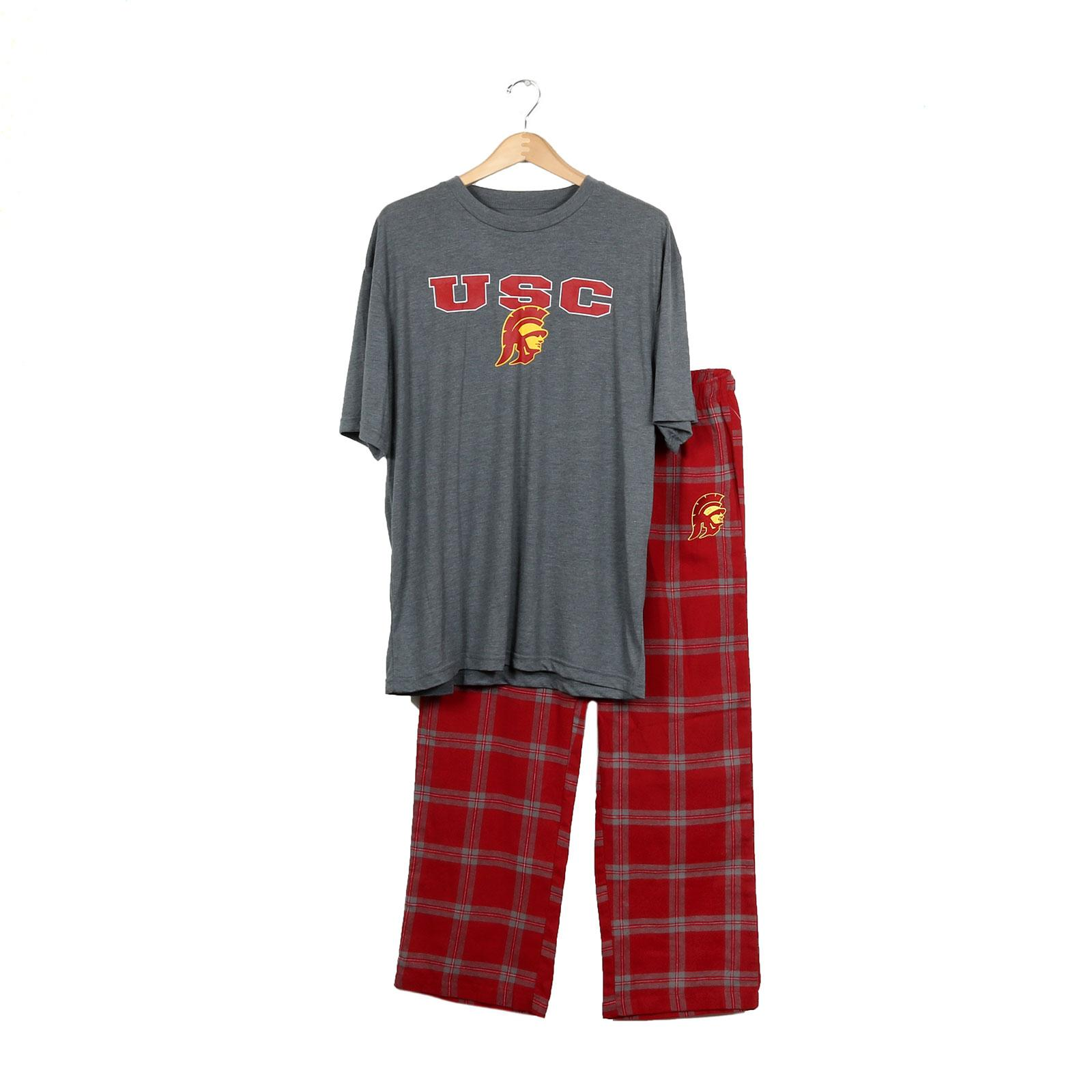 USC Trojans Men's Cardinal Tommy Head Troupe Sleep Set