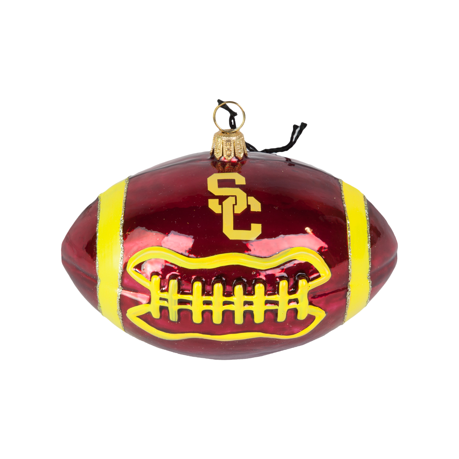 USC Hand Crafted SC Football Ornament