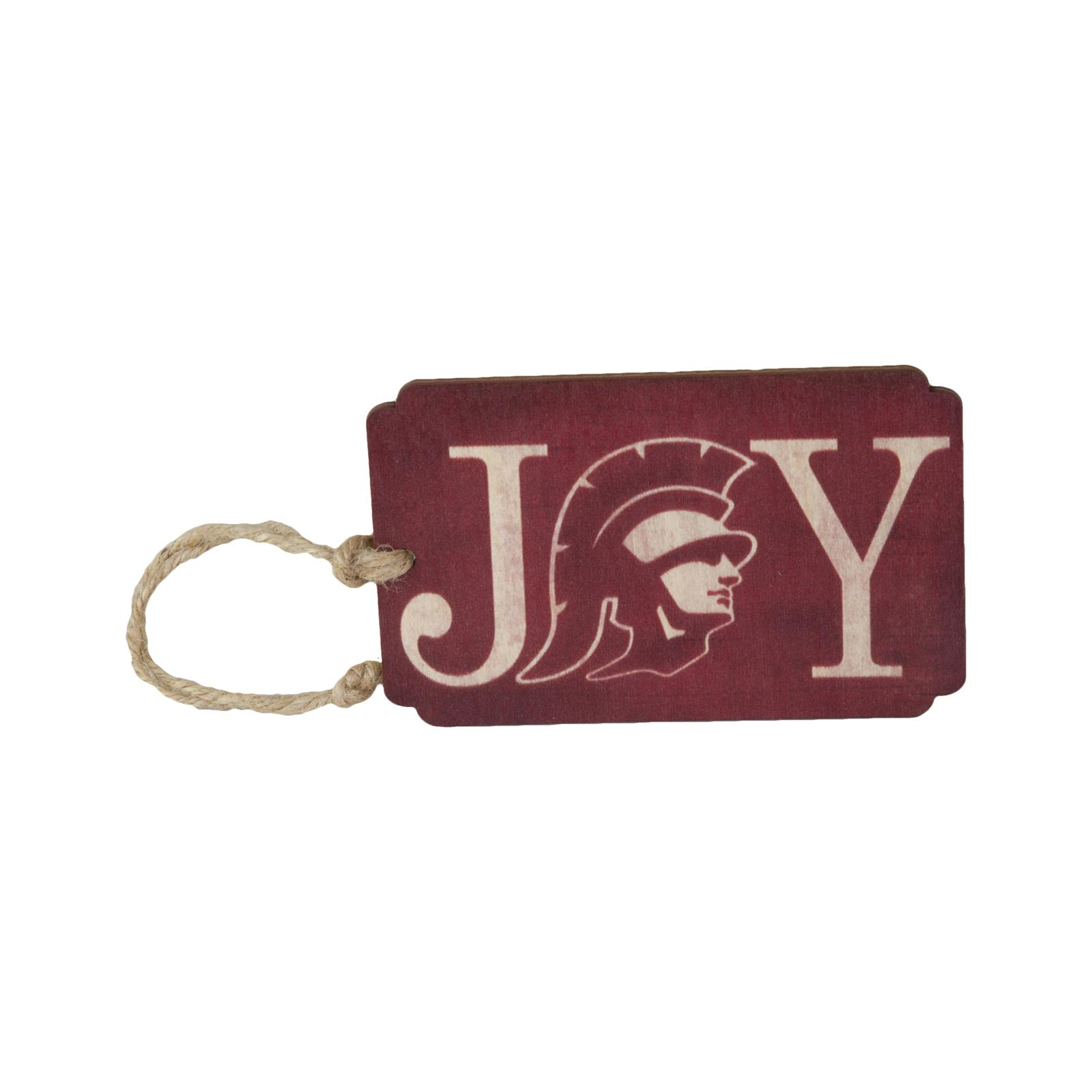 USC Joy Wooden Holiday Gift Tag