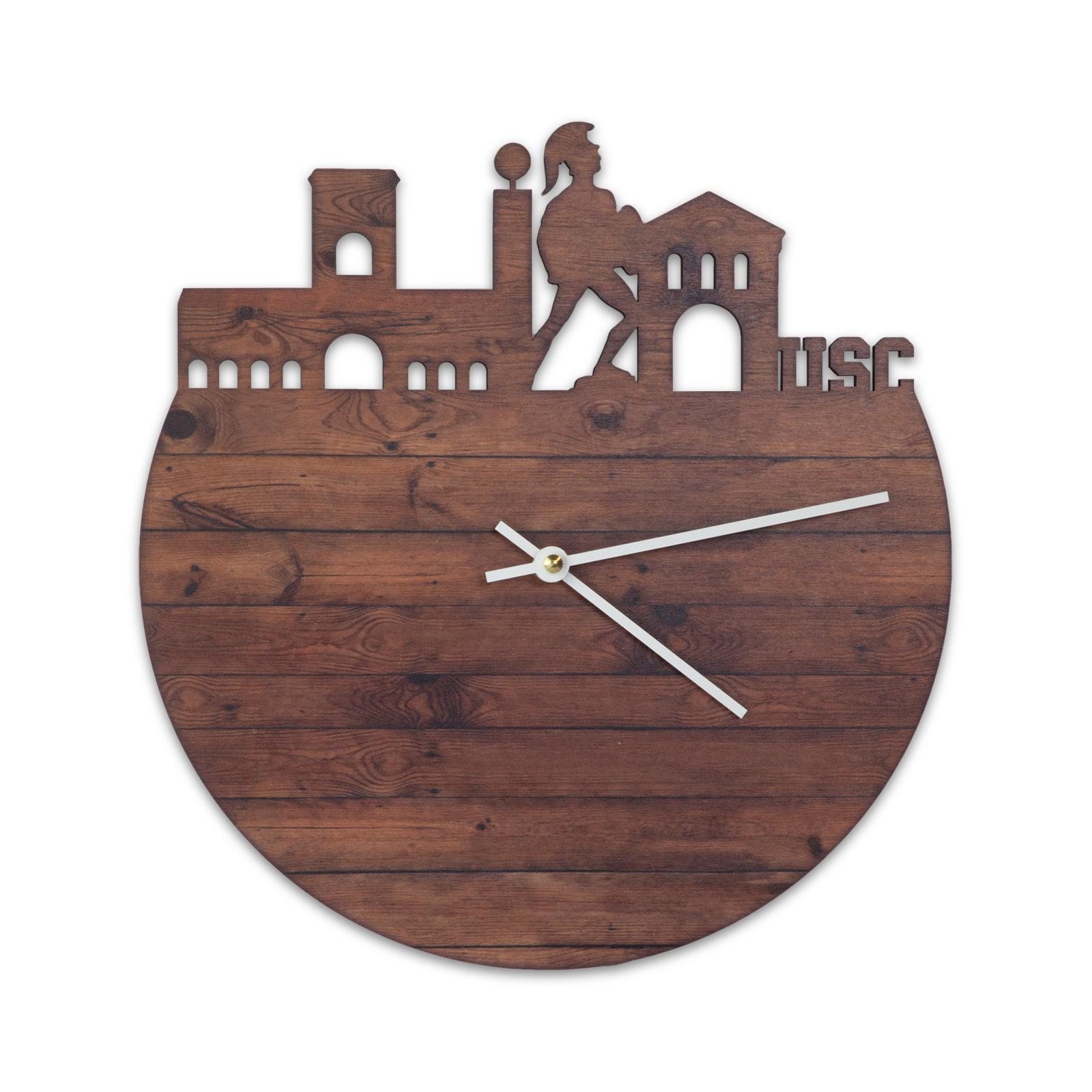 USC Wooden Laser Cut Campus Wall Clock